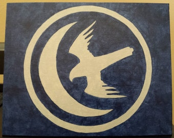 House Arryn sigil painting from Game of Thrones