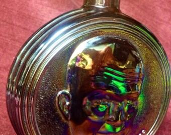 60s Carnival Glass Dwight Eisenhower Bottle
