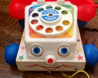 1961 Fisher Price Chatter Telephone