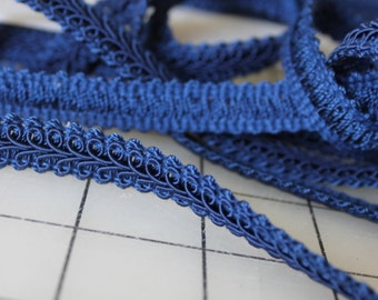 Royal Blue Classic Woven Braided 1/2 Inch Gimp Trim 2 Yards 13 Inches Sewing Crafting Upholstery Finishing Wholesale Supply-End of Bolt Sale