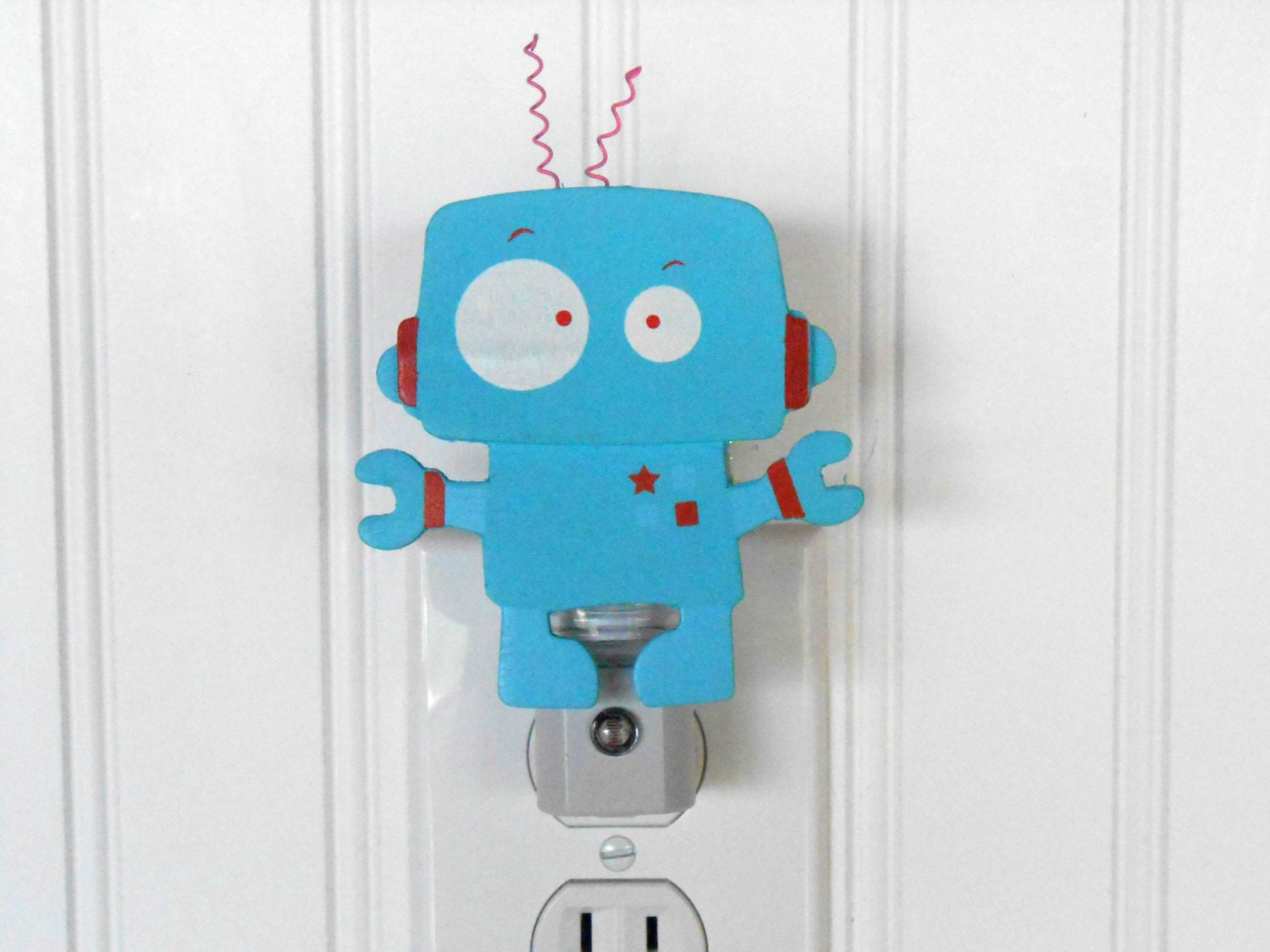 Robot Night Light Boy Room Decor Boy Night By Laurenannalei
