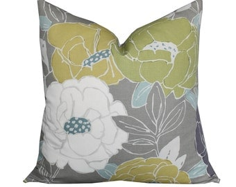 Romo Paeonia Pillow Cover in Wasabi