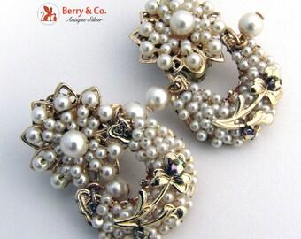 Vintage faux Pearl Earrings Japan 1970s