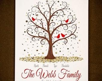 Family Tree - 18x24 - Personalized Family Tree Print
