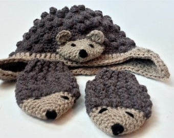 Free Knitting Pattern For Hedgehog Mittens : Popular items for hedgehog mittens on Etsy