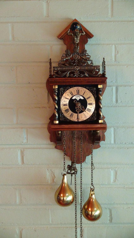Vintage Dutch Warmink Wall Clock Holland S Wuba Co 8