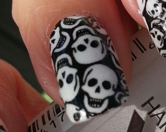 50 black gothic cross nail art crb crosses waterslide tiny skulls nail art decals skt full skull nail wrap day of the prinsesfo Gallery