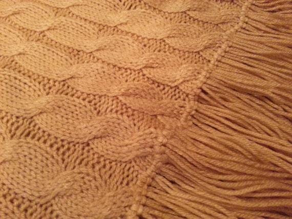 "Custom Hand Knitted Throw Blanket 60"" x 70"""