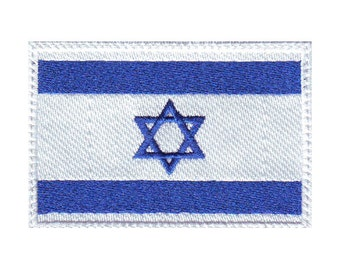 Israel Flag Embroidered Sew on Patch