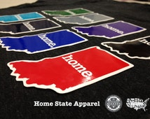 Indiana Home. Colored Vinyl Sticker