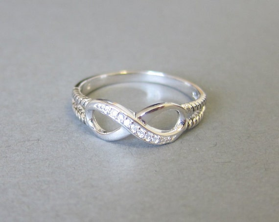 sterling silver infinity ring best friend gift gift for