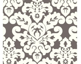 Charcoal White Damask Cuddle by Shannon Fabrics