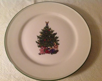 Christmas Tree Plate by Kronester, Bavaria, West Germany