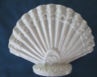 Vintage Ceramic Fan Letter Napkin Holder