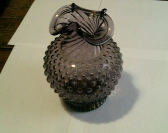 Purple Hobnail Vase 8 in.