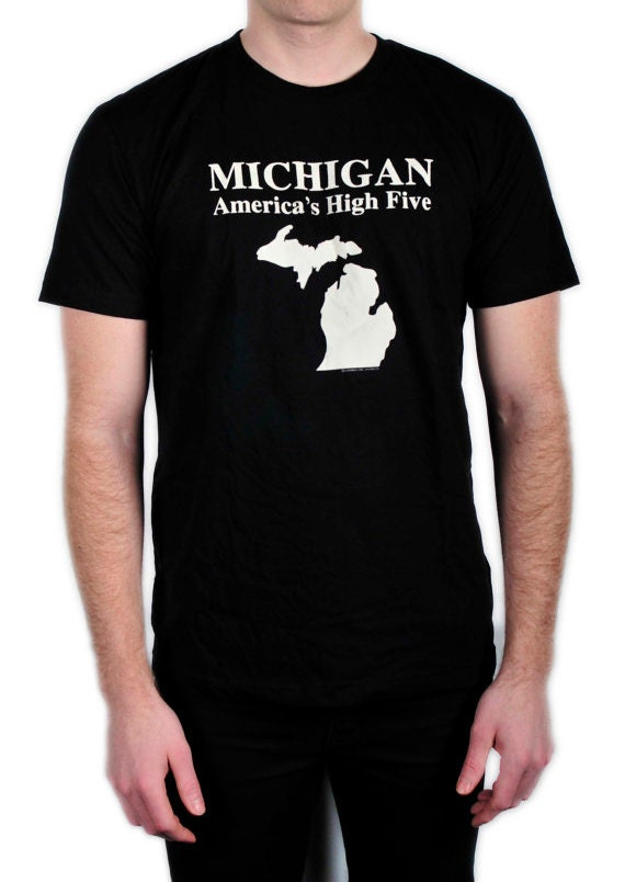 Michigan America's High Five T Shirt (Available in Black, Olive Green, and Royal Blue)