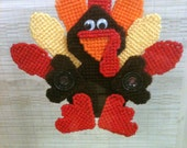 Turkey Window Decoration Needlepoint Plastic Canvas