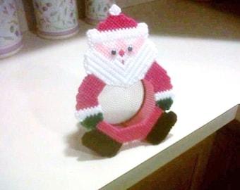 Christmas Hoilday Santa Candy Dish Santa Decoration Great Gift Idea Christmas Decoration Candy Dish Needlepoint