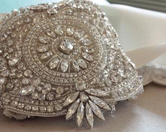 Bridal sash - Zinc (Made to Order)