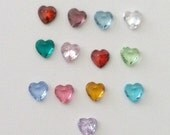 Floating Heart Birthstone Charms for Floating Locket Necklace