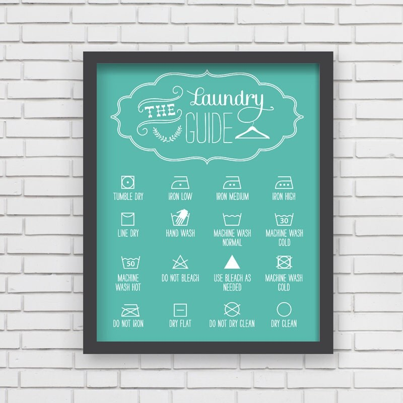 Home Decor Blue Laundry Room Art Print Laundry Room Guide