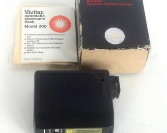 Vintage Vivitar Electronic Flash, Model 200