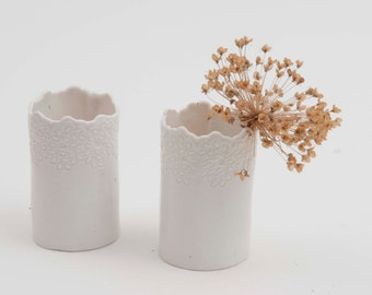 Petit vase dentelle
