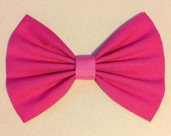 hot pink bow hair clip big bow large bow hair clips