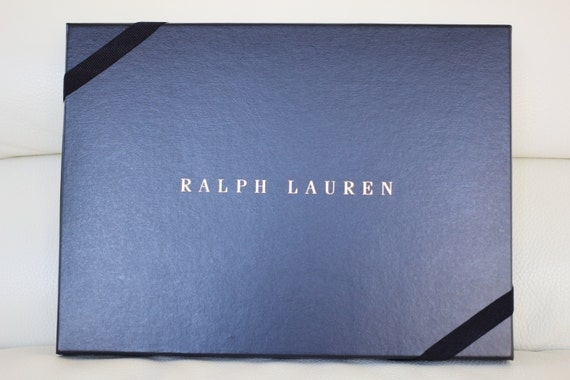 100 Authentic Polo Ralph Lauren Navy And Gold Storage Gift