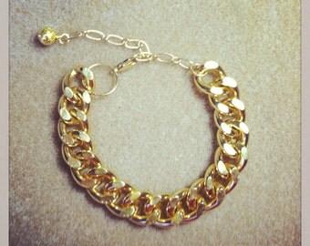 Chunky curb chain bracelet