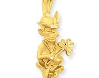 Diamond Cut Leprechaun Charm (JC-681)