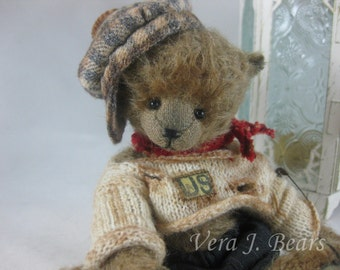 Hat Cap for miniature artist bear or doll handmade by Vera J.Bears