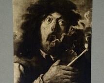 Rudolf Lesch Fine Arts Photo Print Flemish Painting Smoker by Brouwer Adriaen