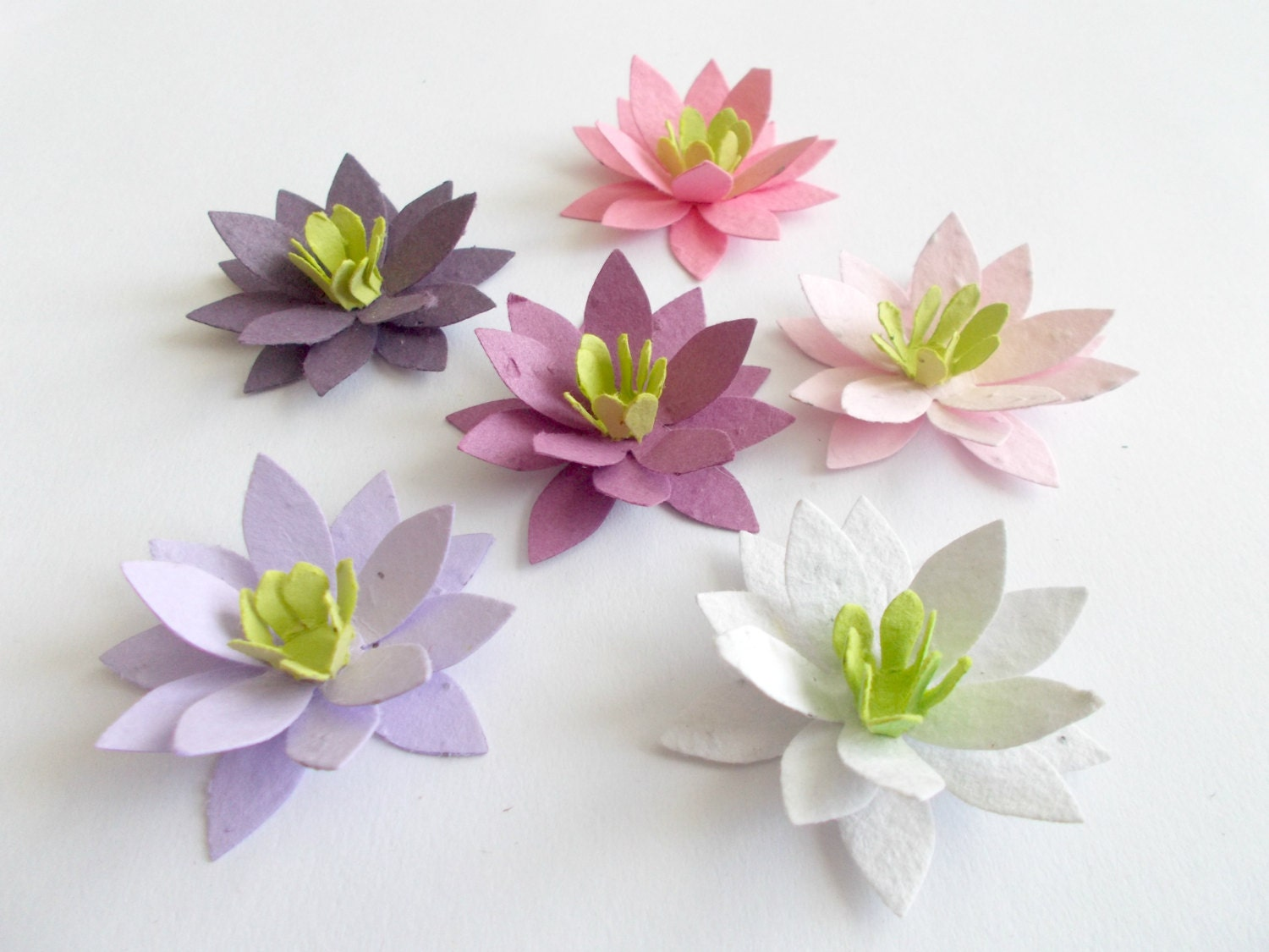 50 Paper Lotus Flowers Eco Friendly Wedding and by PaperSprouts