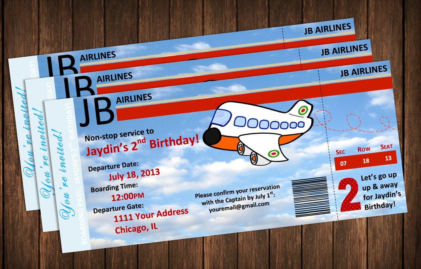 Boarding pass invitation template free visualbrainsinfo