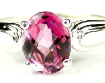 Pure Pink Topaz, 925 Sterling Silver Ring, SR058