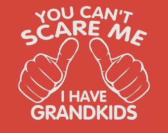 You Can't Scare Me I have Grandkids Fathers Day Gift Dad To Be Gifts For Dad Christmas Gift For Dad T-Shirt Mens Kids Funny Daddy To be