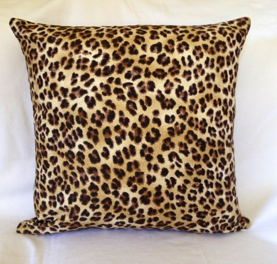 Brown with Black Leopard Animal Print Home Decor Throw PILLOW