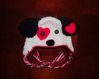 Crochet Love Puppy Beanie
