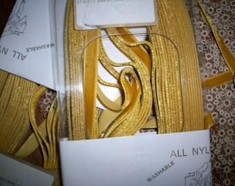 11 yd. roll Vintage Mustard Velvet Trim Nylon  Yardage by the bolt only