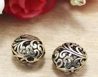 10 pcs   antiqued bronze Hollow beads  pendant 16mm  hollow ball beads