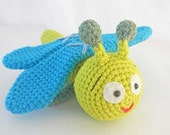Crochet Toy Dragonfly - Amigurumi Bug Stuffed Animal - HerterCrochetDesigns