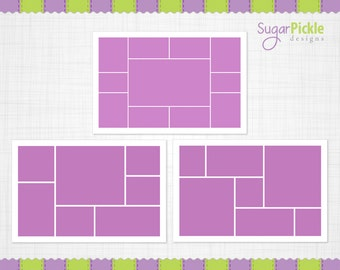 16x24 Storyboard Template, Digital Collage, 16 x 24 Collage, 16 x 24 Photo Template, Blog Boards for Photographers, INSTANT DOWNLOAD