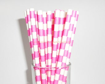 Striped Paper Straws 50 Pink Sailor Paper Drinking Straw Wedding Birthday Bridal Easter Paper Straw Free Printable Flags