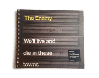THE ENEMY | Notebook | Recycled Album Cover | Music | Notepad | Handmade | Gift Idea | Stocking Filler | For Her | For Him | Music Journal