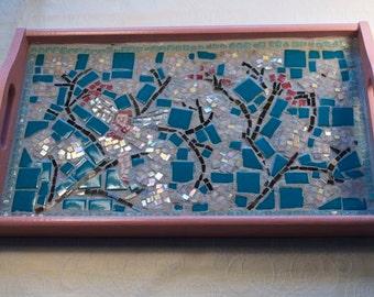 Cherry Blossom Fairy Mosaic Tray