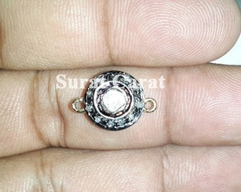 Victorian 0.65ct Polki & Rose Cut Diamond Connector/Finding, Free Shipping