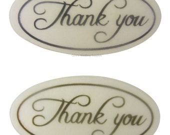50x Silver or Gold Thank You Envelope Stickers Seals Wedding Invitations, FREE POSTAGE Australia Wide