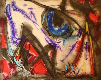 """Rolph Scarlett """"Untitled Abstract"""" - Original Mixed Media - Retail 22,500 - COA - See Live at GallArt - Buy/Sell/Trade"""