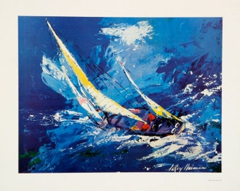 """Leroy Neiman """"Sailing"""" - 1978 - Limited Poster - Retail 200.00  - See Live at GallArt - Buy/Sell/Trade"""